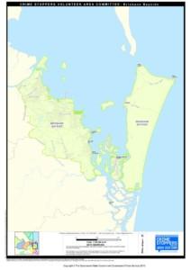 Map of Brisbane Bayside Area