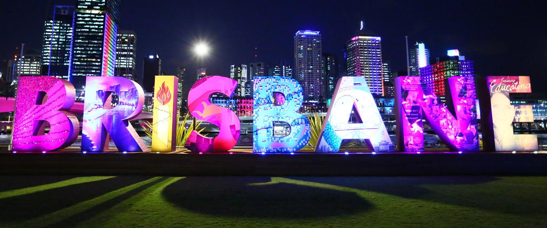 Brisbane Sign at Night